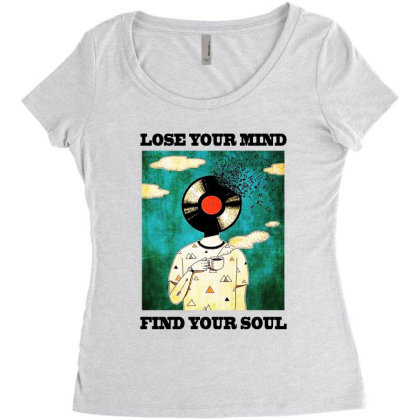 Find Your Soul Women's Triblend Scoop T-shirt Designed By Pinkanzee