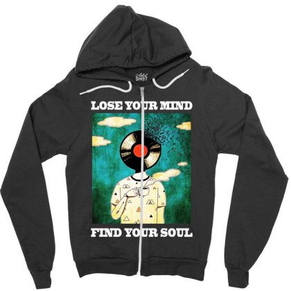 Find Your Soul Zipper Hoodie Designed By Pinkanzee