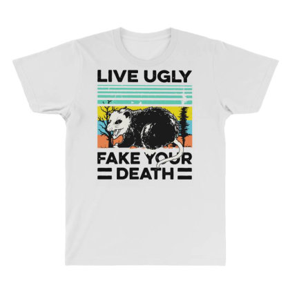 Fake Your Death All Over Men's T-shirt Designed By Pinkanzee