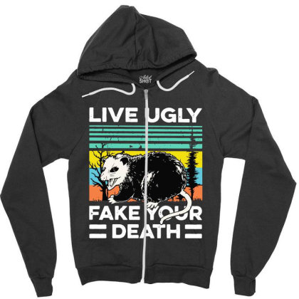 Fake Your Death Zipper Hoodie Designed By Pinkanzee