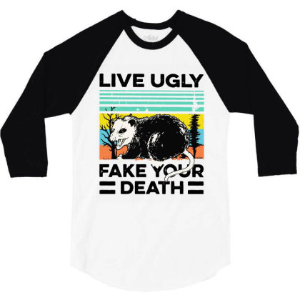 Fake Your Death 3/4 Sleeve Shirt Designed By Pinkanzee