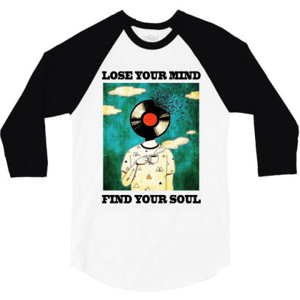 Find Your Soul 3/4 Sleeve Shirt Designed By Pinkanzee