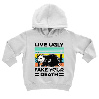 Fake Your Death Toddler Hoodie Designed By Pinkanzee