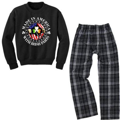 America Irish Youth Sweatshirt Pajama Set Designed By Pinkanzee