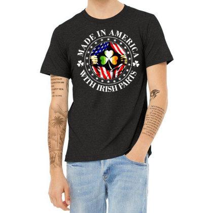 America Irish Heather T-shirt Designed By Pinkanzee