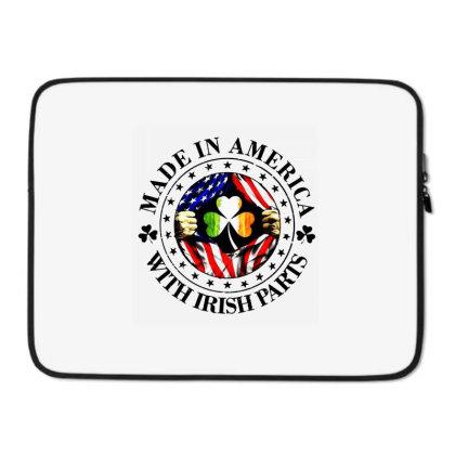 America Irish Laptop Sleeve Designed By Pinkanzee