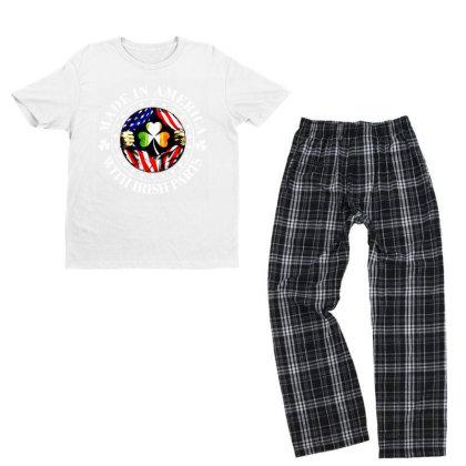 America Irish Youth T-shirt Pajama Set Designed By Pinkanzee