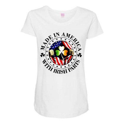 America Irish Maternity Scoop Neck T-shirt Designed By Pinkanzee