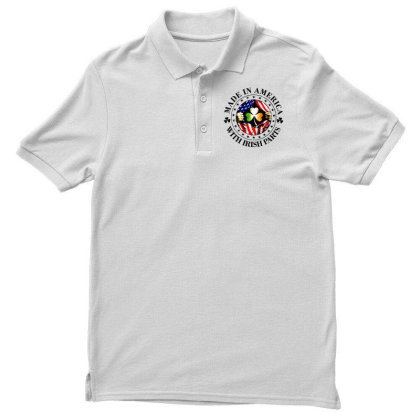 America Irish Men's Polo Shirt Designed By Pinkanzee
