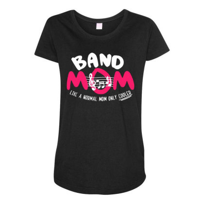 Mom Music Maternity Scoop Neck T-shirt Designed By Pinkanzee