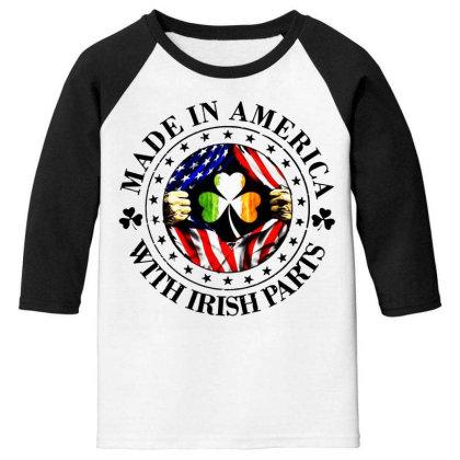 America Irish Youth 3/4 Sleeve Designed By Pinkanzee