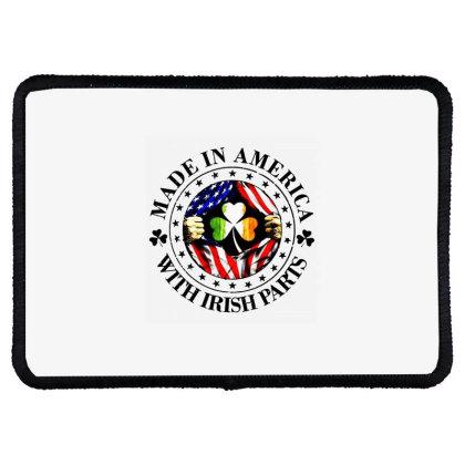 America Irish Rectangle Patch Designed By Pinkanzee