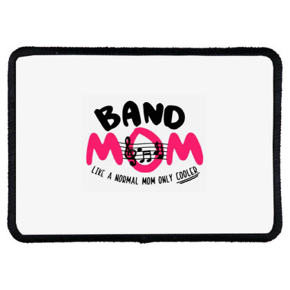 Mom Music Rectangle Patch Designed By Pinkanzee