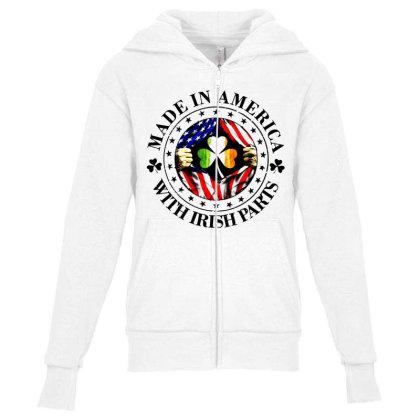 America Irish Youth Zipper Hoodie Designed By Pinkanzee