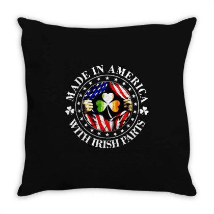 America Irish Throw Pillow Designed By Pinkanzee