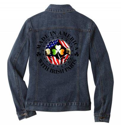 America Irish Ladies Denim Jacket Designed By Pinkanzee
