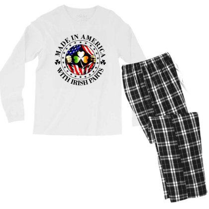 America Irish Men's Long Sleeve Pajama Set Designed By Pinkanzee