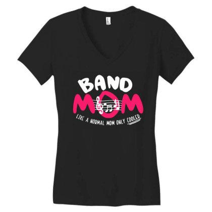 Mom Music Women's V-neck T-shirt Designed By Pinkanzee
