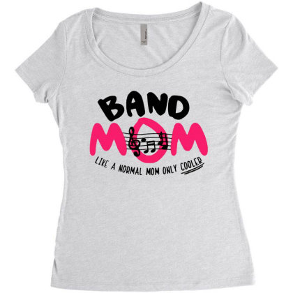 Mom Music Women's Triblend Scoop T-shirt Designed By Pinkanzee