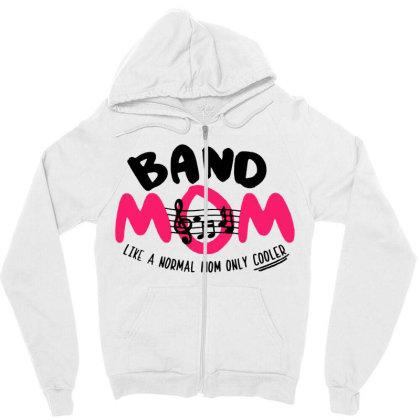 Mom Music Zipper Hoodie Designed By Pinkanzee