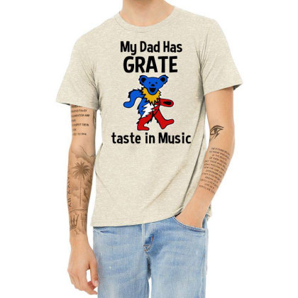 My Dad In Music Heather T-shirt Designed By Pinkanzee