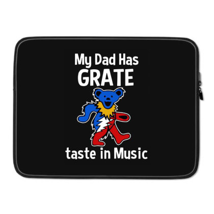 My Dad  In Music Laptop Sleeve Designed By Pinkanzee