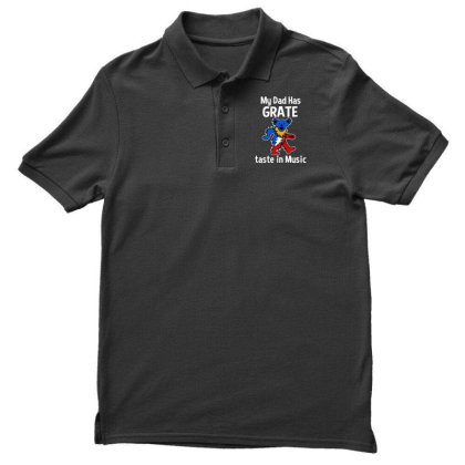 My Dad  In Music Men's Polo Shirt Designed By Pinkanzee