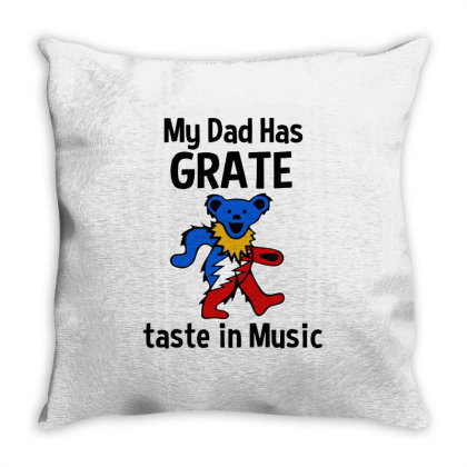 My Dad In Music Throw Pillow Designed By Pinkanzee