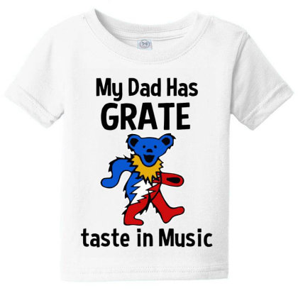 My Dad In Music Baby Tee Designed By Pinkanzee