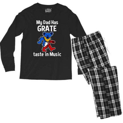My Dad  In Music Men's Long Sleeve Pajama Set Designed By Pinkanzee