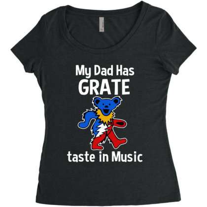 My Dad  In Music Women's Triblend Scoop T-shirt Designed By Pinkanzee