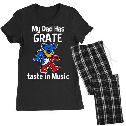My Dad  In Music Women's Pajamas Set Designed By Pinkanzee
