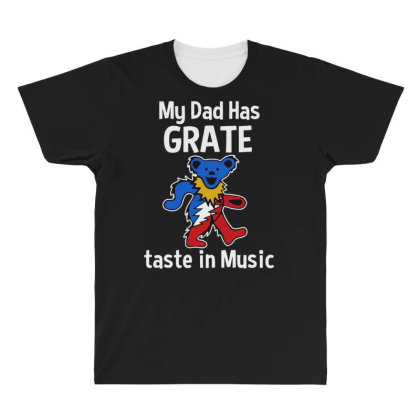 My Dad  In Music All Over Men's T-shirt Designed By Pinkanzee