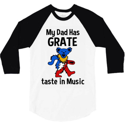 My Dad In Music 3/4 Sleeve Shirt Designed By Pinkanzee