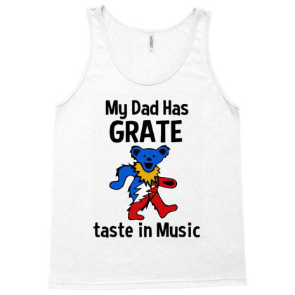 My Dad In Music Tank Top Designed By Pinkanzee