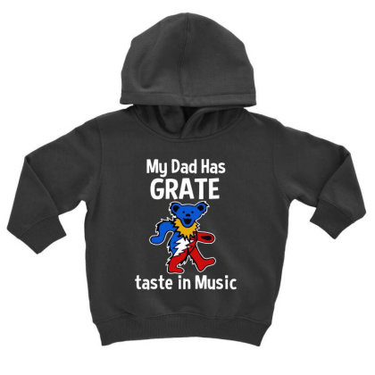 My Dad  In Music Toddler Hoodie Designed By Pinkanzee