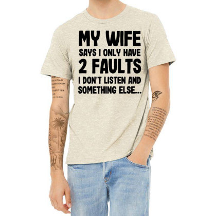 My Wife Quote Heather T-shirt Designed By Pinkanzee