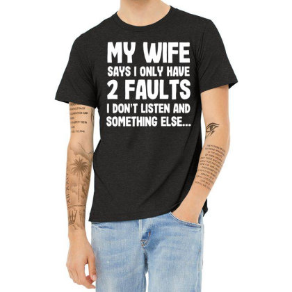 My Wife Typography Heather T-shirt Designed By Pinkanzee