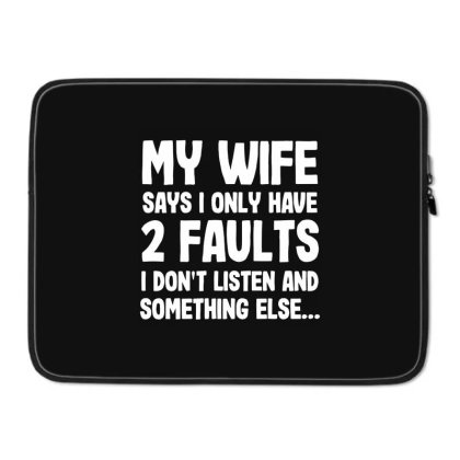 My Wife Typography Laptop Sleeve Designed By Pinkanzee