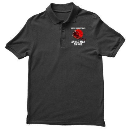 Never Underestimate An Old Man Men's Polo Shirt Designed By Pinkanzee
