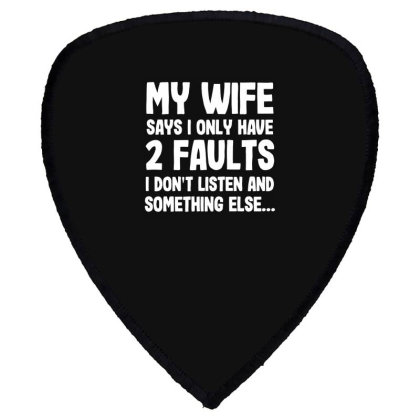 My Wife Typography Shield S Patch Designed By Pinkanzee