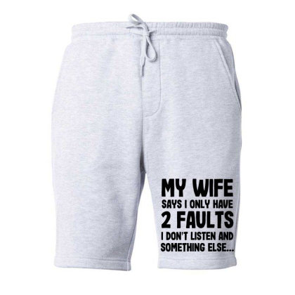 My Wife Quote Fleece Short Designed By Pinkanzee