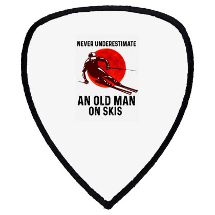 Never Underestimate An Old Man Shield S Patch Designed By Pinkanzee