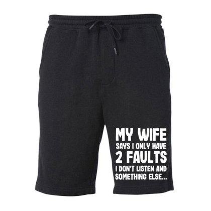 My Wife Typography Fleece Short Designed By Pinkanzee