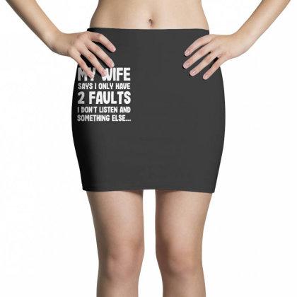 My Wife Typography Mini Skirts Designed By Pinkanzee