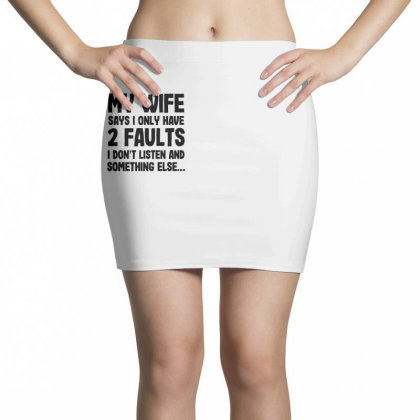 My Wife Quote Mini Skirts Designed By Pinkanzee