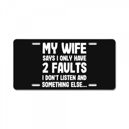 My Wife Typography License Plate Designed By Pinkanzee