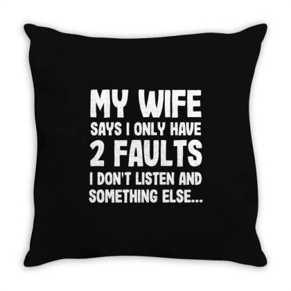 My Wife Typography Throw Pillow Designed By Pinkanzee