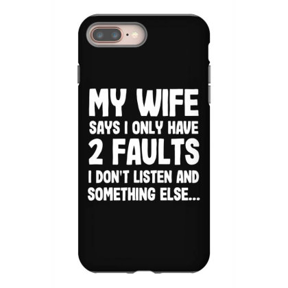 My Wife Typography Iphone 8 Plus Case Designed By Pinkanzee