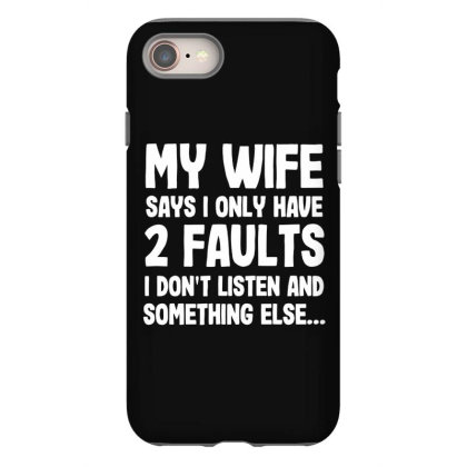My Wife Typography Iphone 8 Case Designed By Pinkanzee
